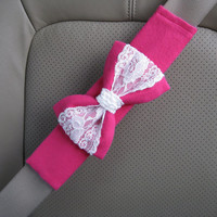 The Original Custom Seatbelt Cover with Matching Bow
