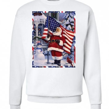 'Santa Claus is American' Christmas Sweatshirt