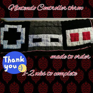 Nintendo Controller Throw/Afghan