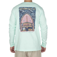 Lifestyle on Point Long Sleeve Tee Shirt in Mint by Southern Point Co.