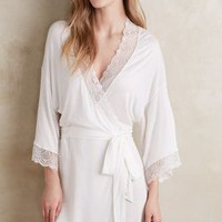 Eberjey Magnolia Robe in White Size: