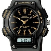 "Casio Men's AQ150W-1EV ""Ana-Digi Chronograph"" Sport Watch with Black Resin Band"