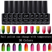 1 Bottle 10ml Thermal Nail Polish Can Change with Temperature 36 Colors [8833543436]
