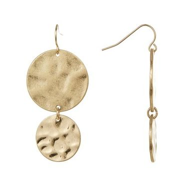 Melrose and Market | Dangling Textured Double Disk Earrings | Nordstrom Rack