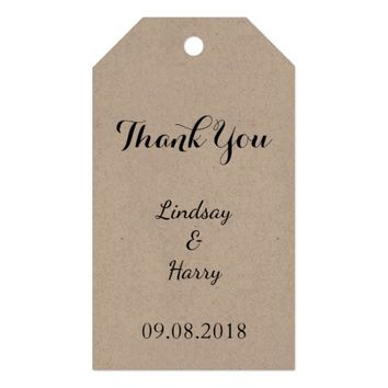 Rustic Personalized Thank You Gift Tags