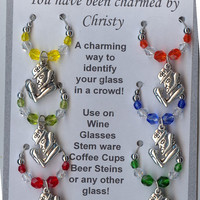 Notre Dame FIGHTING IRISH Wine Charms w/ Pouch