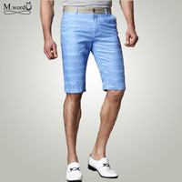 2015 high quality big size 28-38 Summer New fashion men Shorts casual plaid linen Shorts Mens breathing shorts free shipping