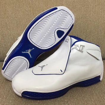 Air Jordan 18 Sport Royal Aj18 Basketball Shoes Retro Sneakers