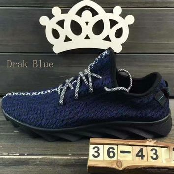 """""""ADIDAS""""Fashion running Classic coconut shoes mesh couples sports shoes Dark Blue"""