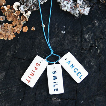 Message jewelry, necklace, spirit, smile, angel
