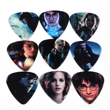 SOACH 10pcs 0.71mm Harry potter high quality two side earrings pick DIY design guitar accessries pick guitar picks