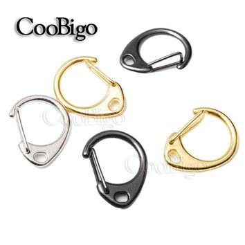 "50pcs Round Lobster Clasps Snap Hook 0.9""Length Metal Key Chain Ring Bag Parts Paracord Straps Knife Lanyard Travel Kits#FLQ048"