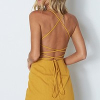 All Nighter Mini Dress Mustard
