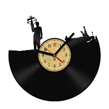 Vinyl Record Clock - Daryl - Walking Dead