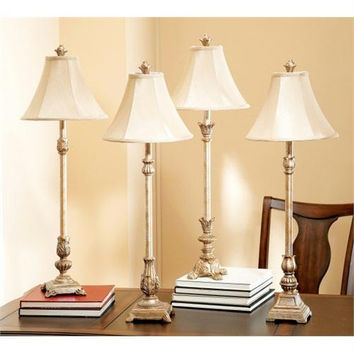 4 Buffet Lamps - Use 60w Bulbs Not Included