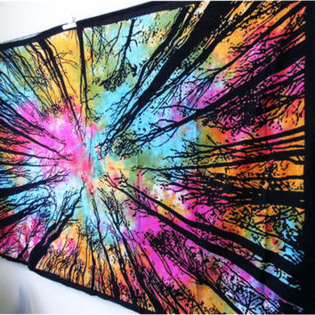 Hang Beach Tapestry Beach Tapestry Hippie Boho Gypsy Cotton Tie Dye Tapestry