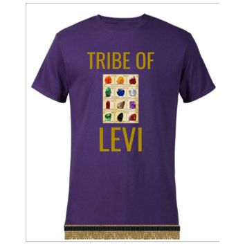 Tribe Of Levi Breastplate Of Judgement Exodus 28:15-30 Short Sleeve T-shirt With Fringes