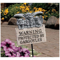 Park Avenue Collection Gargoyle Warning Plaque