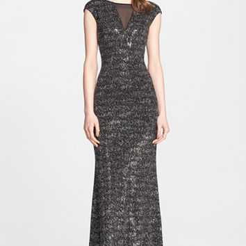 Women's St. John Collection Sparkle Knit Sequin Gown,