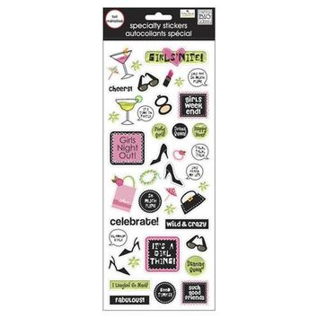 """*MAMBI SPECIALTY STICKERS 5""""X12"""" SHEET- """"GIRLS NIGHT OUT"""
