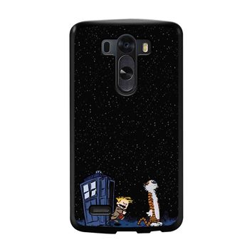 Calvin And Hobbes Apple Tardis LG G3 Case