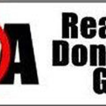 NRA Real men don't need guns QUALITY NEW BUMPER STICKER STI-0140