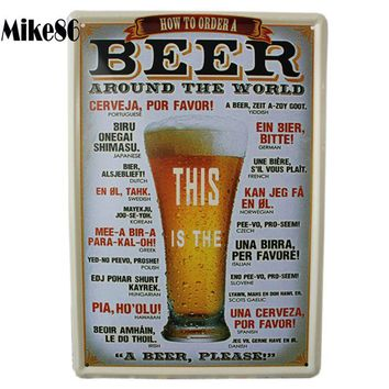[ Mike86 ] This is a beer Poster  Tin Sign Art Wall decor House PUB Vintage Painting Christmas Gift  A-377 Mix order 20*30 CM