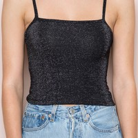 Tessa Glitter Tank - Tops - Clothing