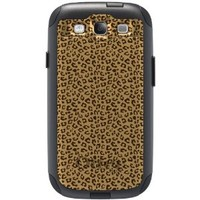 CUSTOM Black OtterBox Commuter Series Case for Samsung Galaxy S3 - Beige Tan Brown Cheetah Skin Spots