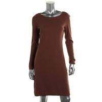 Charter Club Womens Knit Long Sleeves Sweaterdress