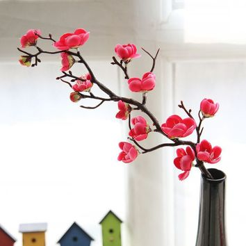 Putars Shop ! Artificial Silk Fake Flowers Plum Blossom Floral Wedding Bouquet Party Decor Valentines Day