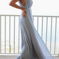 Queensland Party Gray Maxi Dress