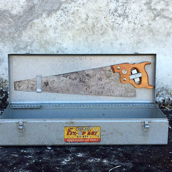 Antique Toolbox, Vintage Toolbox, Stanley Fix-Up Tool Box No. 891, Tool Chest,  Metal Toolbox, Machinist Tool Box, Garage Storage
