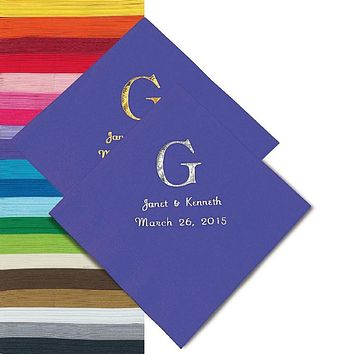 Personalized Party Napkins In Colors