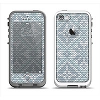The Knitted Snowflake Fabric Pattern Apple iPhone 5-5s LifeProof Fre Case Skin Set