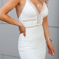 Carmen White Lace Bodycon Mini Dress