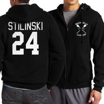 For Adult Teen Wolf Stilinski 24 Zip Up Hoodies Men 2017 Spring Autumn Streetwear Hoodie Tracksuit Brand Clothing Plus Size Men