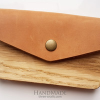 "Business card holder for men ""Envelope"""