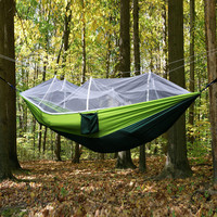 Outdoor Portable Leisure, Hiking, mountaneering, Hunting or Camping   Hammock Flyknit  Double