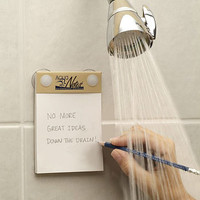Waterproof Notepad For The Shower