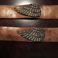 Angel Wing Metallic Leather Bracelet
