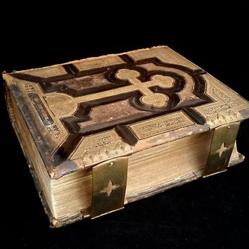 1874, 3 books in one binding: Illustrated  Life of the Blessed Virgin Mary, Life of Our Lord Jesus Christ, and Lives of the Principal Saints