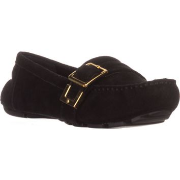Nine West Blueberry Flat Loafers, Black Suede, 4.5 US