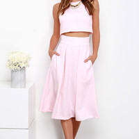 On Your Behalf Light Pink Two-Piece Dress