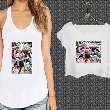 Lana Del Rey collage For Woman Tank Top , Man Tank Top / Crop Shirt, Sexy Shirt,Cropped Shirt,Crop Tshirt Women,Crop Shirt Women S, M, L, XL, 2XL*NP*