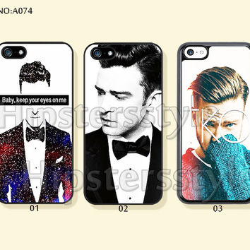 Phone Cases, iPhone 5/5S Case, iPhone 4/4S Case,  iPhone 5C Case, Justin Timberlake, Galaxy S3 S4 S5 Note 2 Note 3-A074