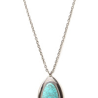 Heirloom Faux Stone Pendant Necklace