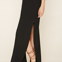 Side-Slit Maxi Skirt