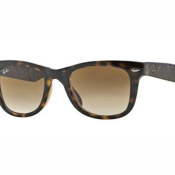 Sunglasses Ray Ban RB4105 FOLDING WAYFARER crystal brown faded 710/51