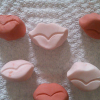 Valentine Smooches ~ Edible Gumpaste Lips